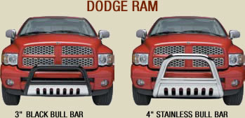 dodge ram stainless bull bars