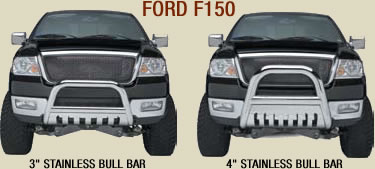 ford f150 stainless bull bars