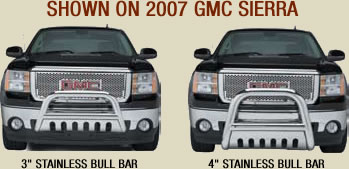 2007 gmc sierra stainless bull bars
